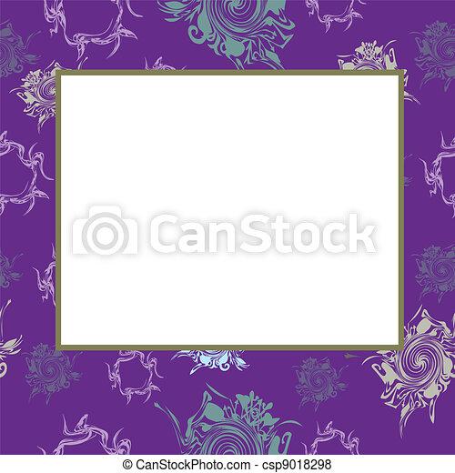 Vector lilac frame - csp9018298