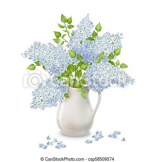 Vector Lilac in Vase - csp58509574