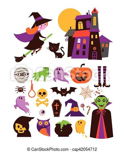 El icono vectorial de Halloween lindo - csp42054712