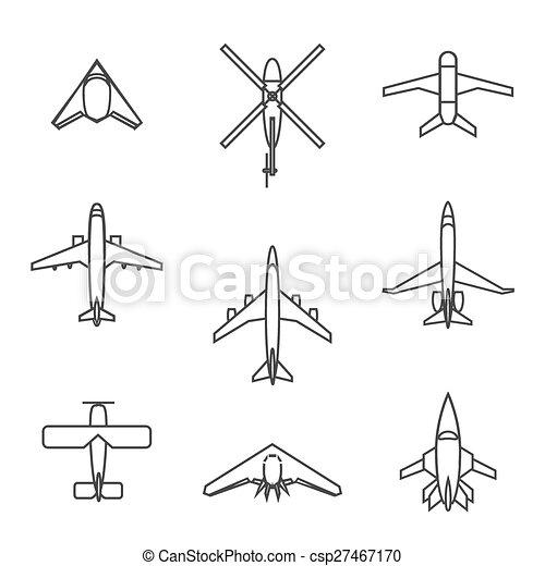 Vector line aircraft set - csp27467170