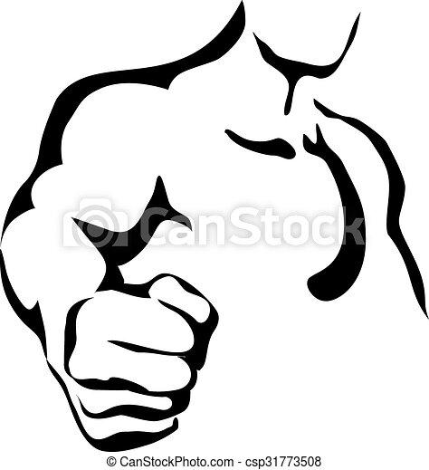 vector line art fist vector line contour graphic art fist vector rh canstockphoto com fist vector image vector fist