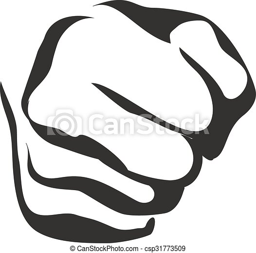 vector line art fist vector line contour graphic art fist vector rh canstockphoto com fist vector download vector fist