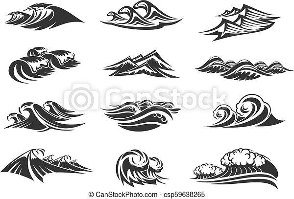 Free Clip Art Ocean Line Drawing