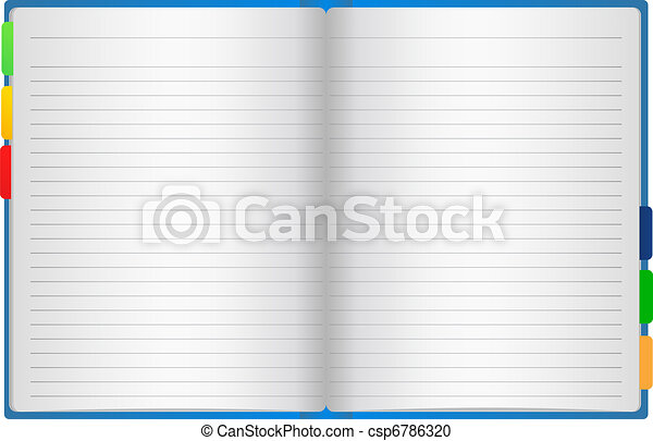 Vector lined notebook - csp6786320