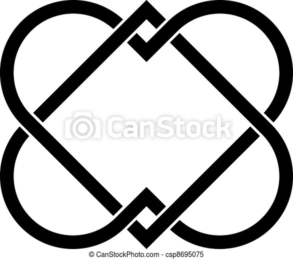 vector linked hearts - csp8695075