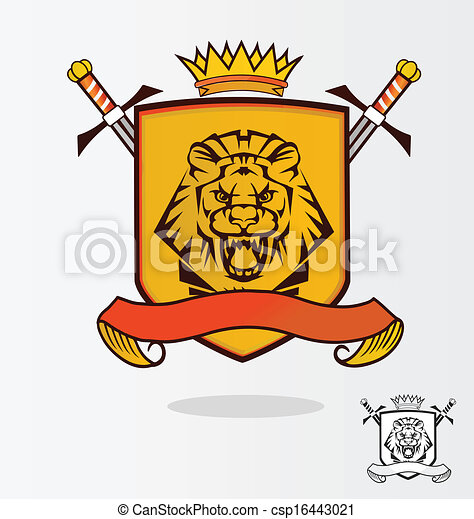 Vector Lion Coat of Arms - csp16443021