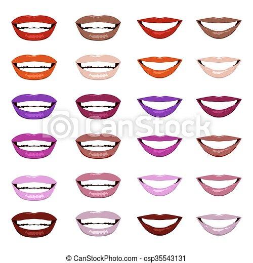 Vector lips set. - csp35543131