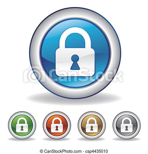 vector lock icon - csp4435010