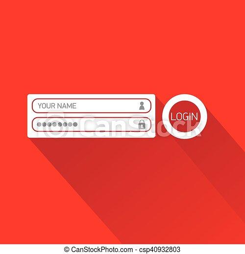 Vector login website template flat design website login form vector login website template flat design maxwellsz