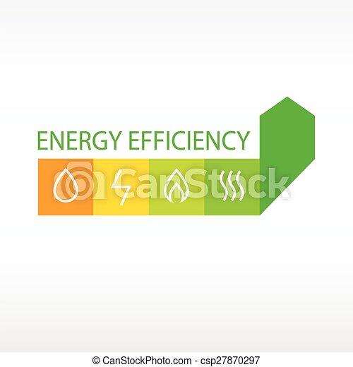 Vector logo energy efficiency diagram of growth of energy vector logo energy efficiency diagram of growth of energy efficiency saving resources ccuart Choice Image