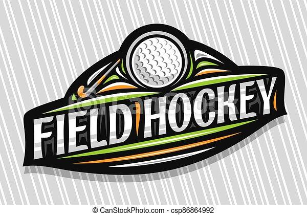 Vector logo for Field Hockey - csp86864992