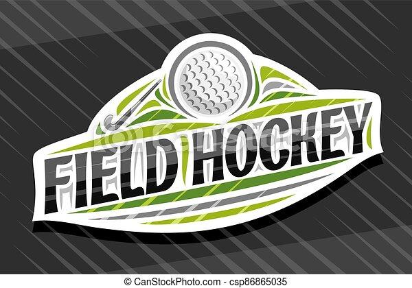 Vector logo for Field Hockey Sport - csp86865035