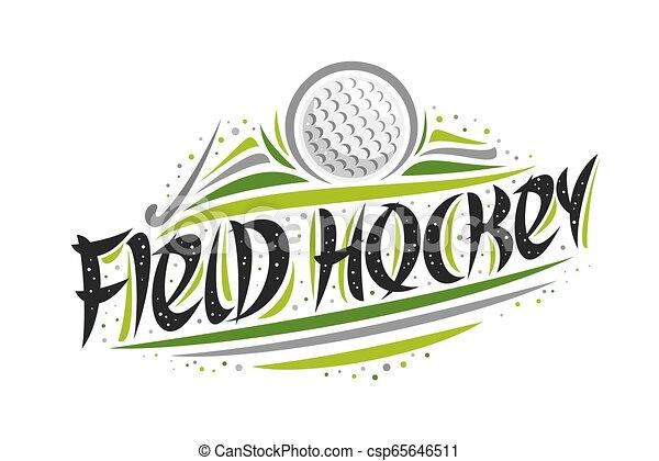Vector logo for Field Hockey - csp65646511