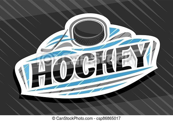 Vector logo for Ice Hockey Sport - csp86865017