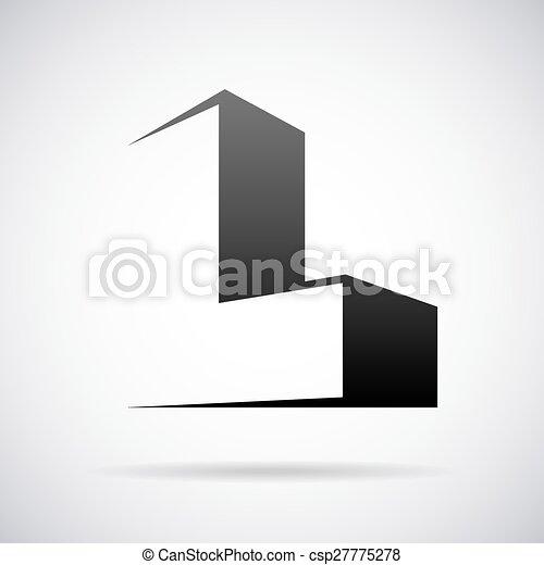 Vector logo for letter l design template Logo for letter l