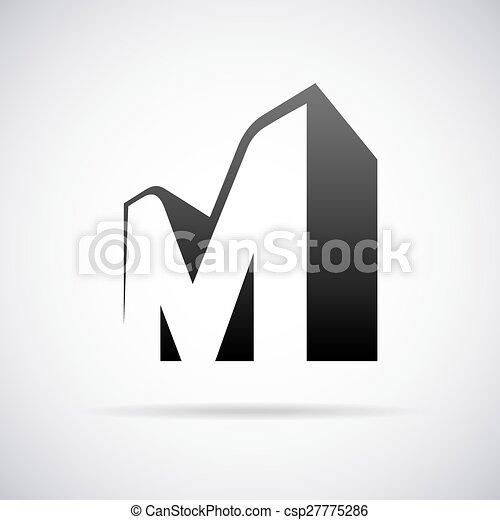 vector logo for letter m design template logo for letter m vector search clip art. Black Bedroom Furniture Sets. Home Design Ideas