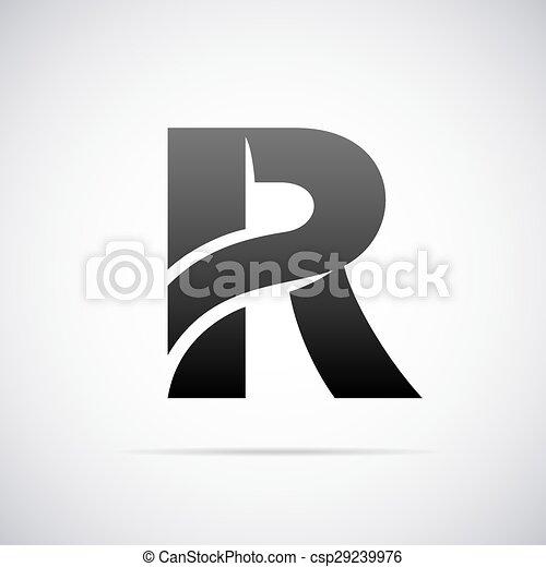 Vector Logo For Letter R Logo For Letter R Design Template Vector