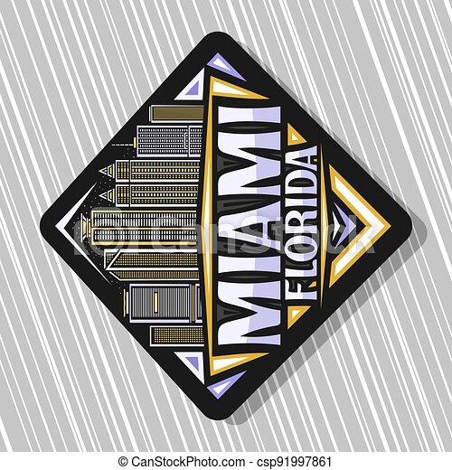 Vector logo for Miami - csp91997861