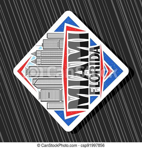 Vector logo for Miami - csp91997856