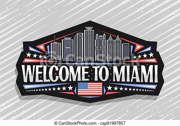 Vector logo for Miami - csp91997857