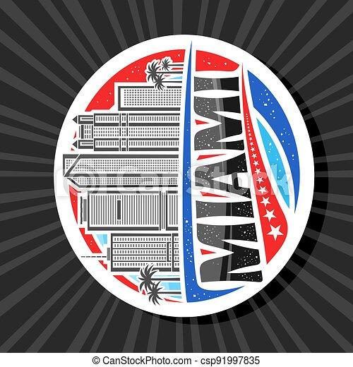 Vector logo for Miami - csp91997835
