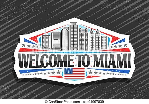 Vector logo for Miami - csp91997839