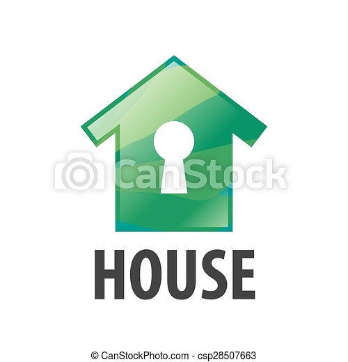 vector logo green house and keyhole clip art vector search rh canstockphoto com
