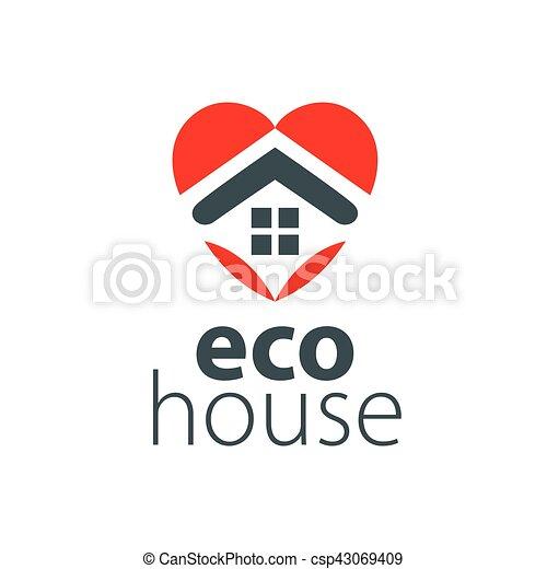 vector logo house - csp43069409