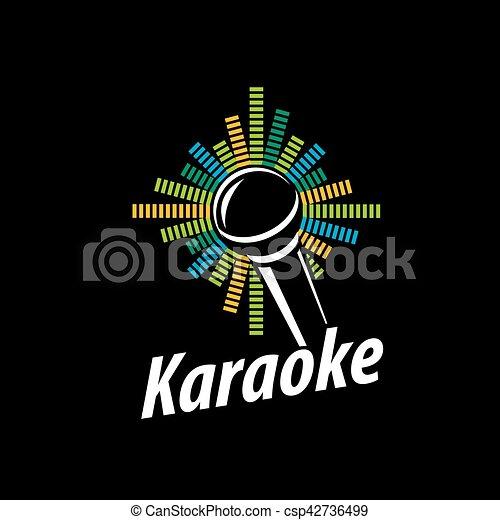 vector logo karaoke template design logo karaoke vector eps