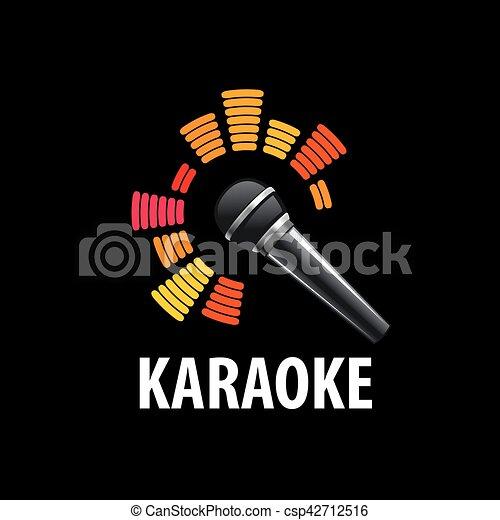 vector logo karaoke template design logo karaoke vector