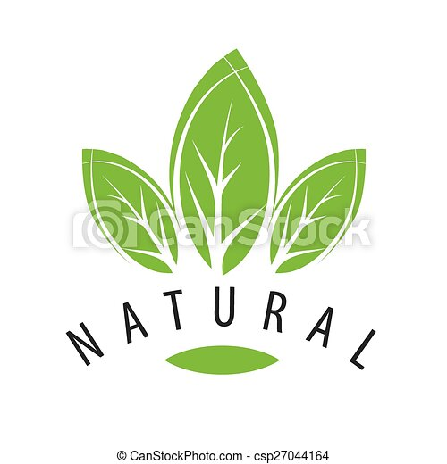 vector logo natural green leaves - csp27044164