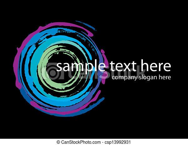 vector logo neon circles handmade - csp13992931