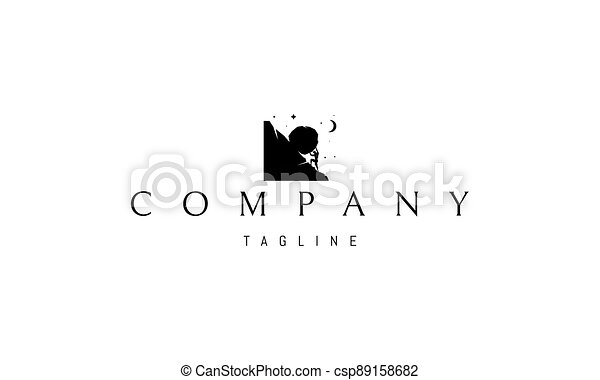 Vector logo on which an abstract image of an illustration of Sisyphean labor. - csp89158682