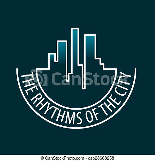 vector logo rhythms of the city at night - csp28668258