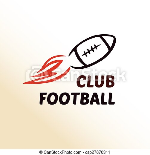 Vector logo template football club, rugby.  - csp27870311