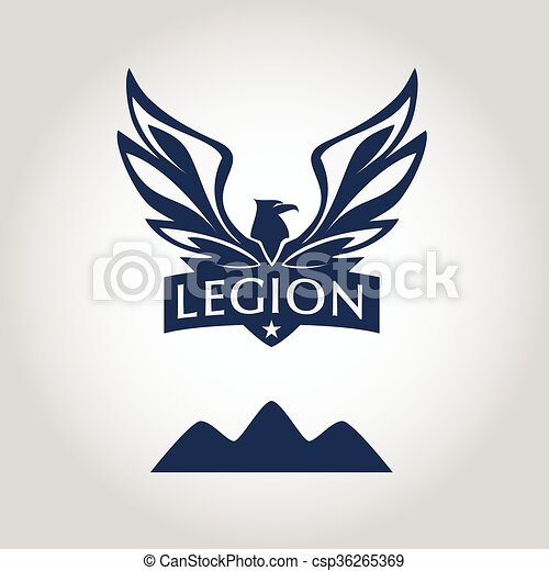 Vector logo template. legion label. logo with eagle. sport team ...