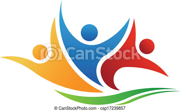 Vector Logo Three People - csp17239857