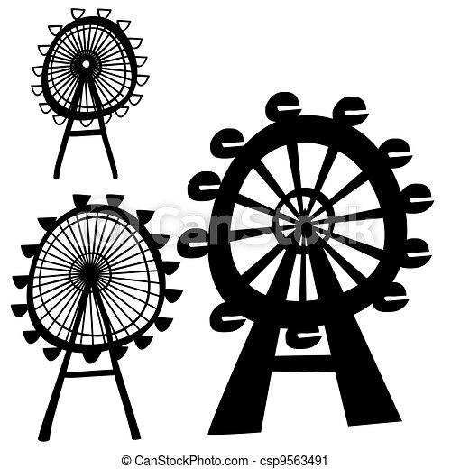 Vector London Eye Illustration Of The Ferris Wheel