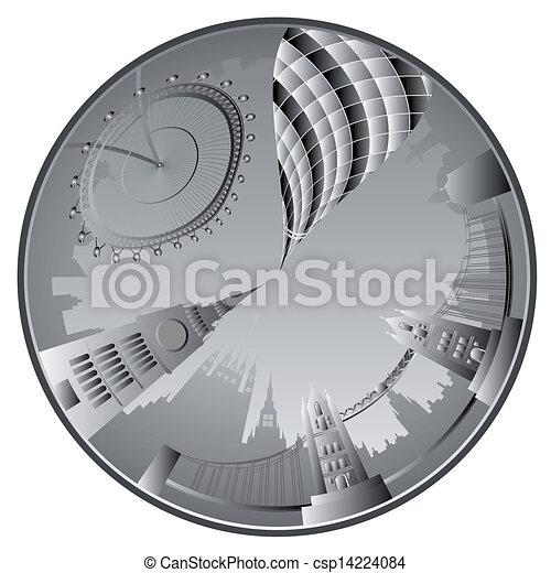 vector London skyline - csp14224084