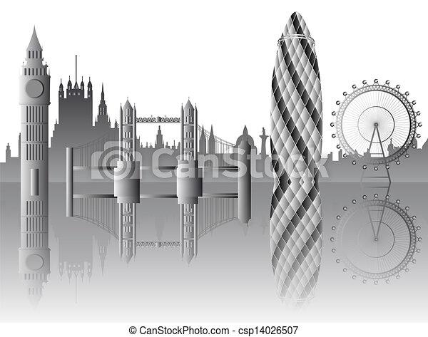 vector London skyline - csp14026507