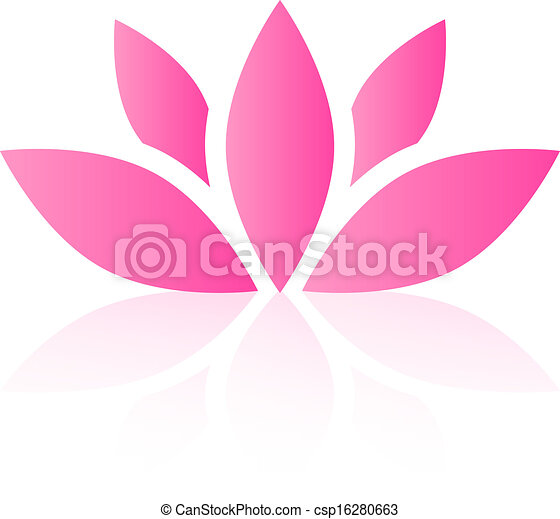 Vector lotus flower - csp16280663