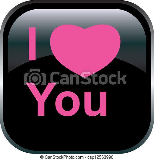 Vector love Button. - csp12563990