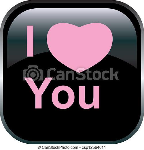 Vector love Button. - csp12564011