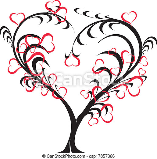 Vector - love tree - csp17857366