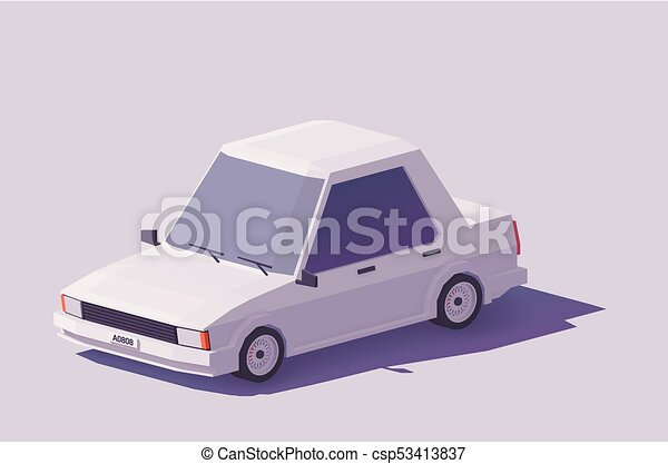 Vector low poly car - csp53413837