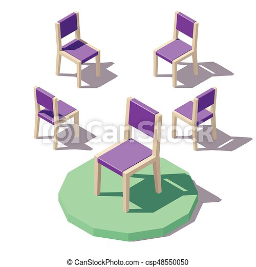 Vector low poly Chair - csp48550050