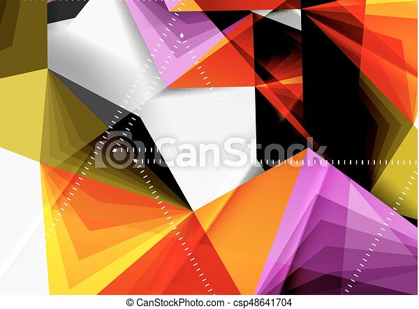 vector low poly style 3d triangle line a4 business or technology
