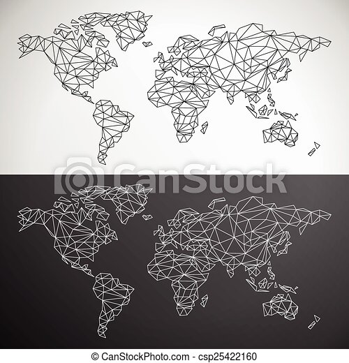 Vector low poly world map outline clip art vector search drawings vector low poly world map outline gumiabroncs Gallery