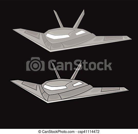 Vector de aviones de combate - csp41114472