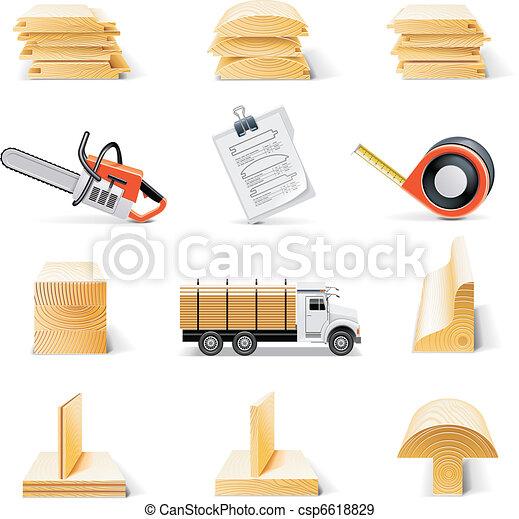 Vector lumber icon set - csp6618829